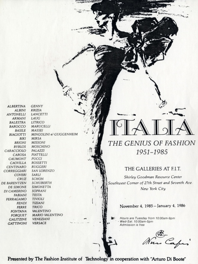 "catalogo della mostra ""Italia. The genius of fashion"""